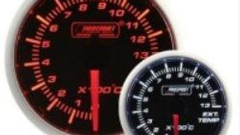 52mm Amber/White exhaust gas temp gauge