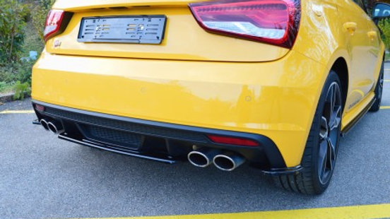REAR CENTRAL SPLITTER AUDI S1 MK1 (2014-2018)