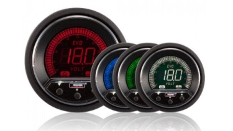 52/60mm Evo LCD Peak / Warning Voltage Gauge