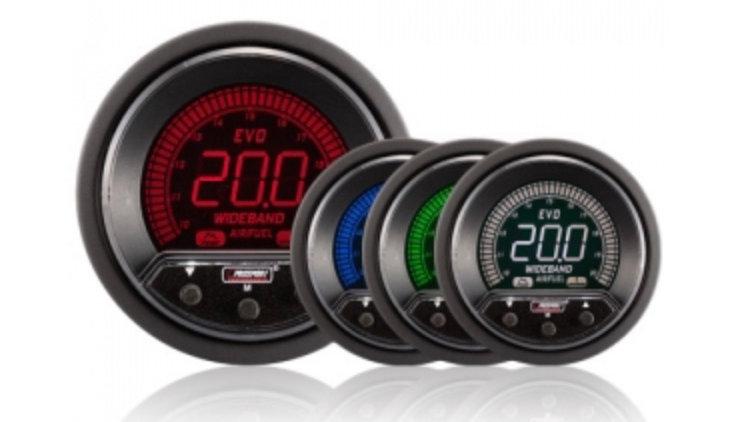 52/60mm Evo LCD Peak / Warning Wideband AFR Kit (With Output)