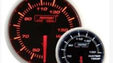 52mm Amber / White water temp gauge