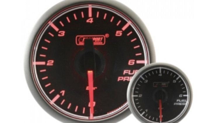 45mm Stepper Motor Clear/Amber Fuel Pressure Gauge (BAR)