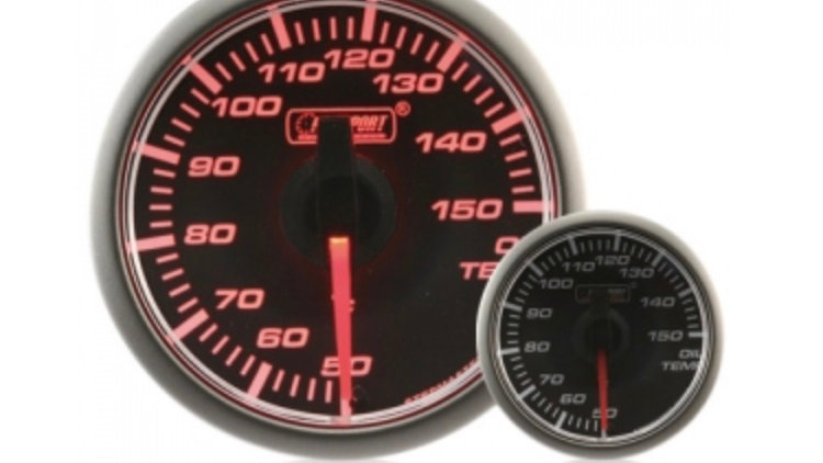 45mm Stepper Motor Clear/Amber Oil Temperature Gauge