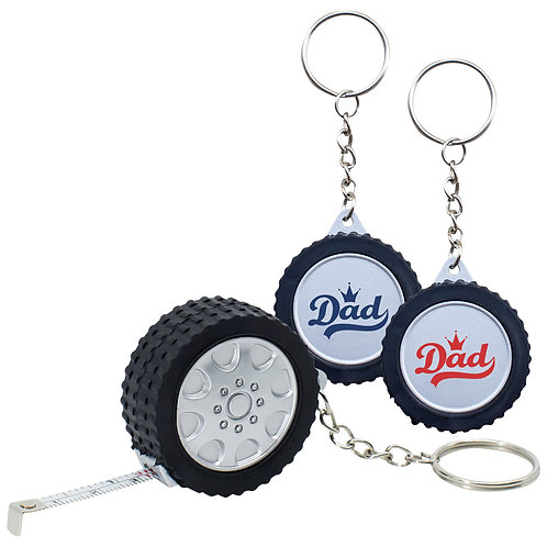 Tyre Keyring with Tape Measure