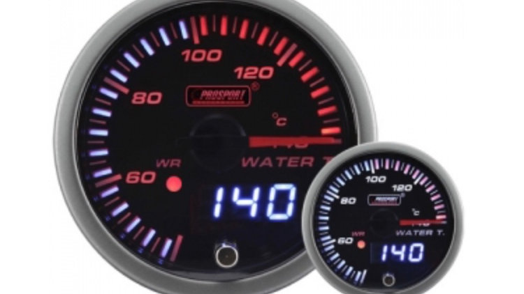 52/60MM JDM Dual Stepper Motor Warning Water Temp Gauge °C