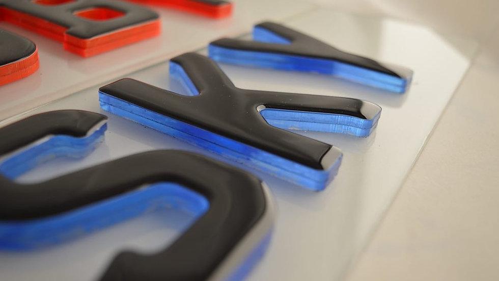 3d blue crystal gel plates