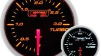 52mm Amber/White boost gauge 0-3 bar