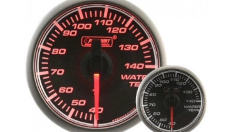 45mm Stepper Motor Clear/Amber Water Temperature Gauge