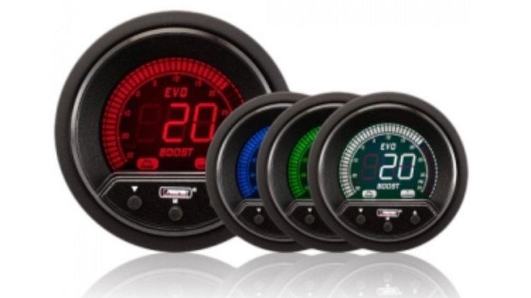 52/60mm Evo LCD Peak / Warning Boost Gauge (Psi