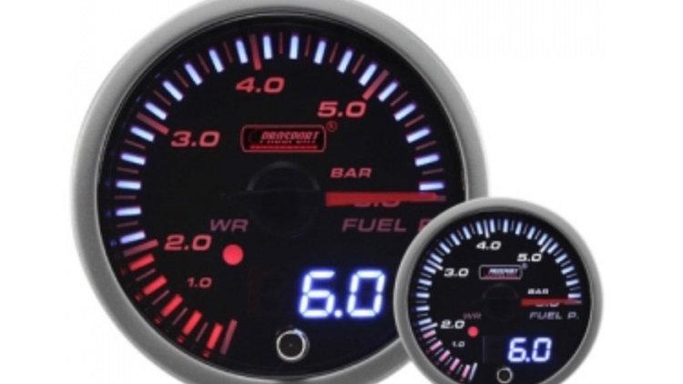 50/60MM JDM Dual Stepper Motor Warning Fuel Pressure Gauge (BAR