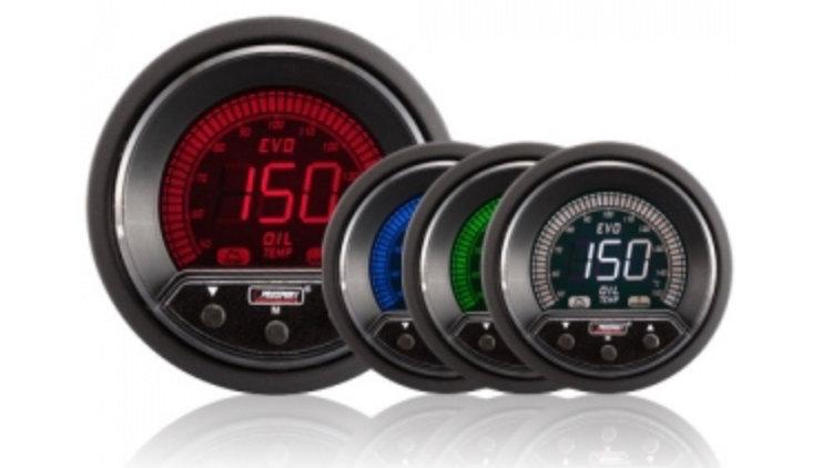 52/60mm Evo LCD Peak / Warning Oil Temperature Gauge