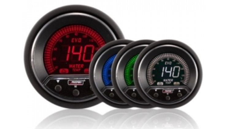 52/60mm Evo LCD Peak / Warning Water Temperature Gauge