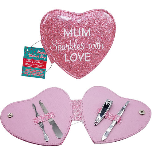 "Manicure Set - ""Mum Sparkles with Love"" Purple"