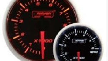 52mm Amber/white rev counter gauge