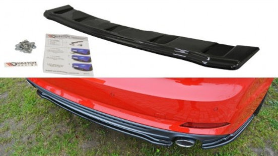CENTRAL REAR SPLITTER AUDI A5 F5 S-LINE (WITHOUT A VERTICAL BAR) (2016 - UP)
