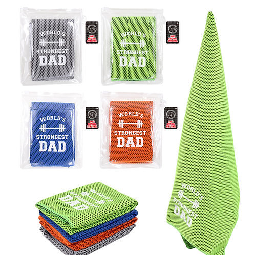 World's Strongest Dad - Sports Towel