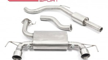 """Vauxhall Corsa D VXR Nurburgring Cat Back Exhaust (2.5"""" bore) (Resonated)"""