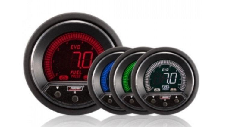 52/60mm Evo LCD Peak / Warning Fuel Pressure Gauge (Bar