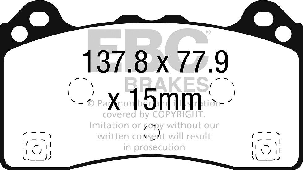FOCUS RS MK3 FRONT EBC Yellowstuff Brake Pads DP42274R