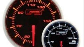 52mm Amber/white oil Temp gauge