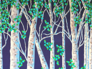 Through the Birches (SOLD)