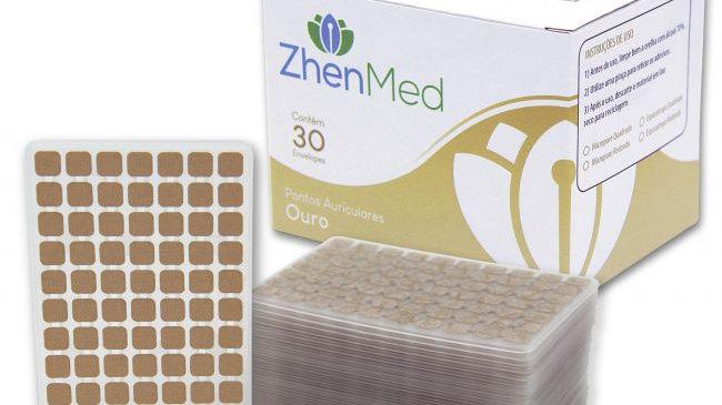 Ponto Ouro para Auriculoterapia - Caixa com 30 placas | ZhenMed