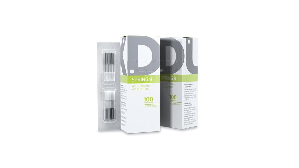 Agulha Facial (Spring 8) - 100 unidades | Dux Acupuncture