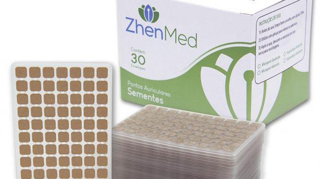 Ponto Semente para Auriculoterapia - Caixa com 30 placas | ZhenMed