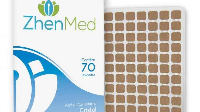 Ponto Cristal para Auriculoterapia - 70unids | ZhenMed