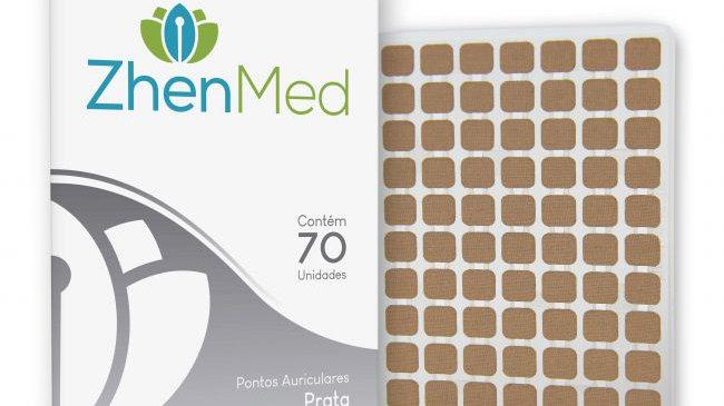 Ponto Prata para Auriculoterapia - 70unids | ZhenMed