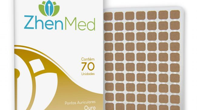 Ponto Ouro para Auriculoterapia - 70unids | ZhenMed