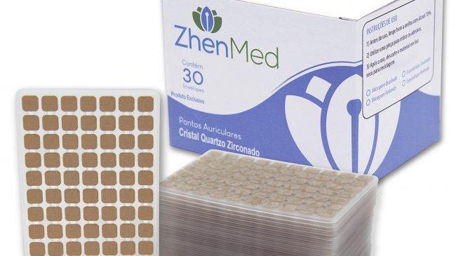 Ponto Cristal Zicornado para Auriculoterapia - Caixa com 30 placas | ZhenMed