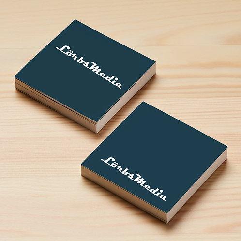 Premium-Visitenkarten Quadratisch