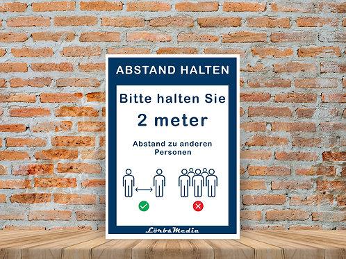 Werbeschilder aus Plastik
