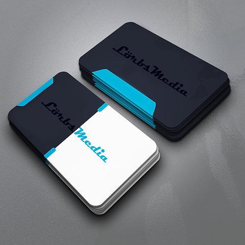 Premium-Visitenkarten mit abgerundeten Ecken