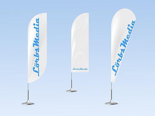 Fahnen und Flaggen mit Stange und Standfuß