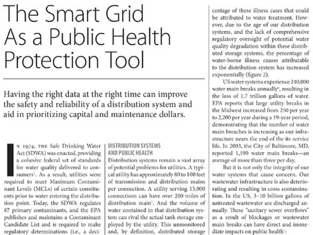 The Smart Grid as a Public Health Protection Tool - Water Efficiency