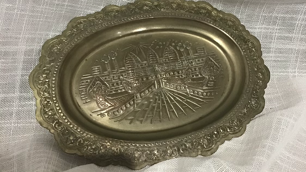 Small Embossed Silver Plate