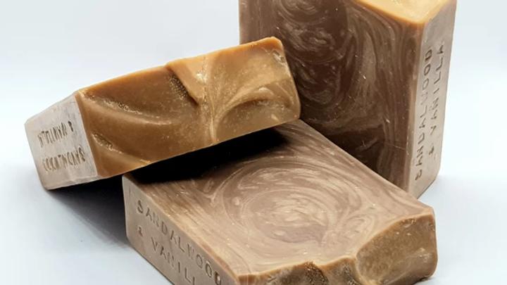 Sandalwood and Vanilla Soap - Handmade Artisan Soap by Malle Belle