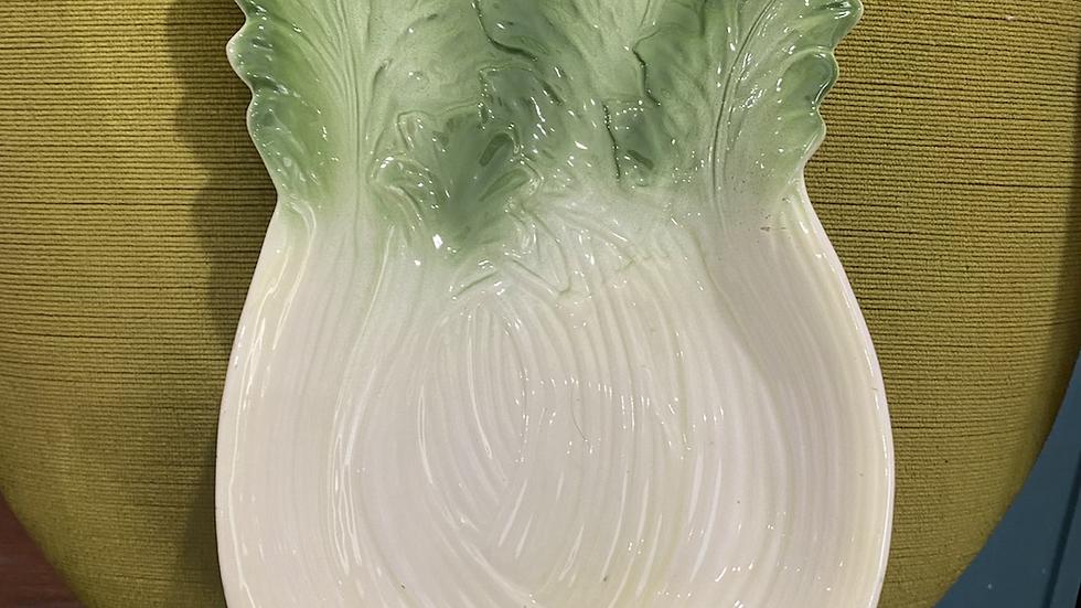 Vintage Vegetable Plate - Celery