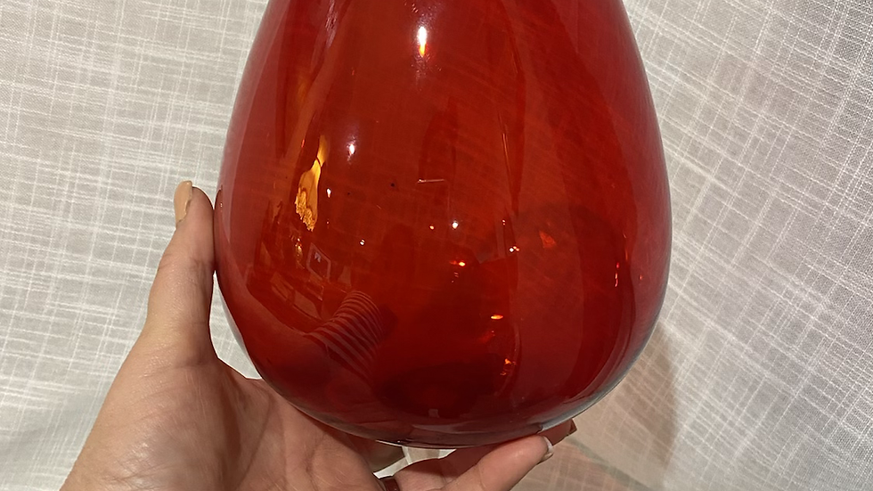 Retro Brandy Glass - red