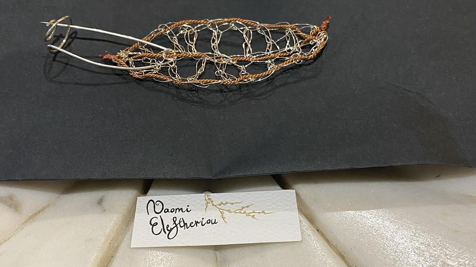 Brooch - Fallen Leaf (copper)