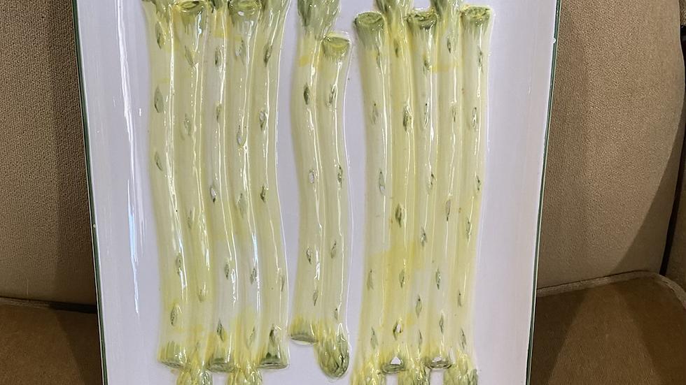 Vintage Vegetable Plate - Asparagus