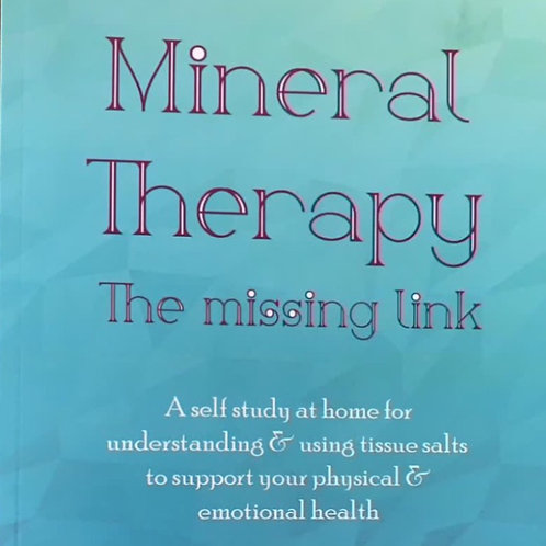 Book: Mineral Therapy - The Missing Link
