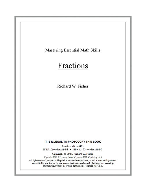 Fractions Digital Download