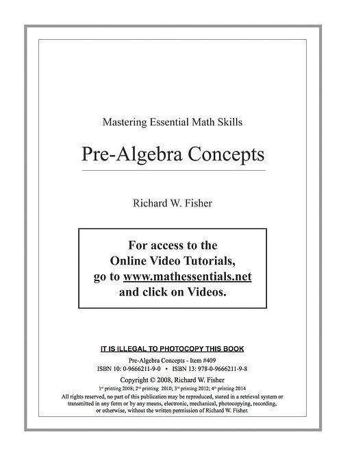 Pre-Algebra Concepts Digital Download