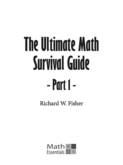 The Ultimate Math Survival Guide Part 1 Digital