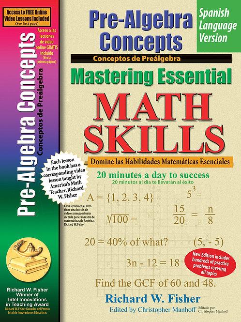 Pre-Algebra Concepts,Spanish Language Version