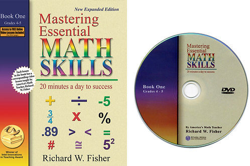 Mastering Essential Math Skills Book 1 with DVD