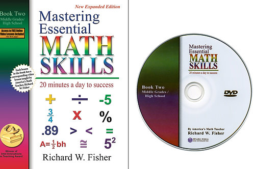 Mastering Essential Math Skills Book 2 with a DVD
